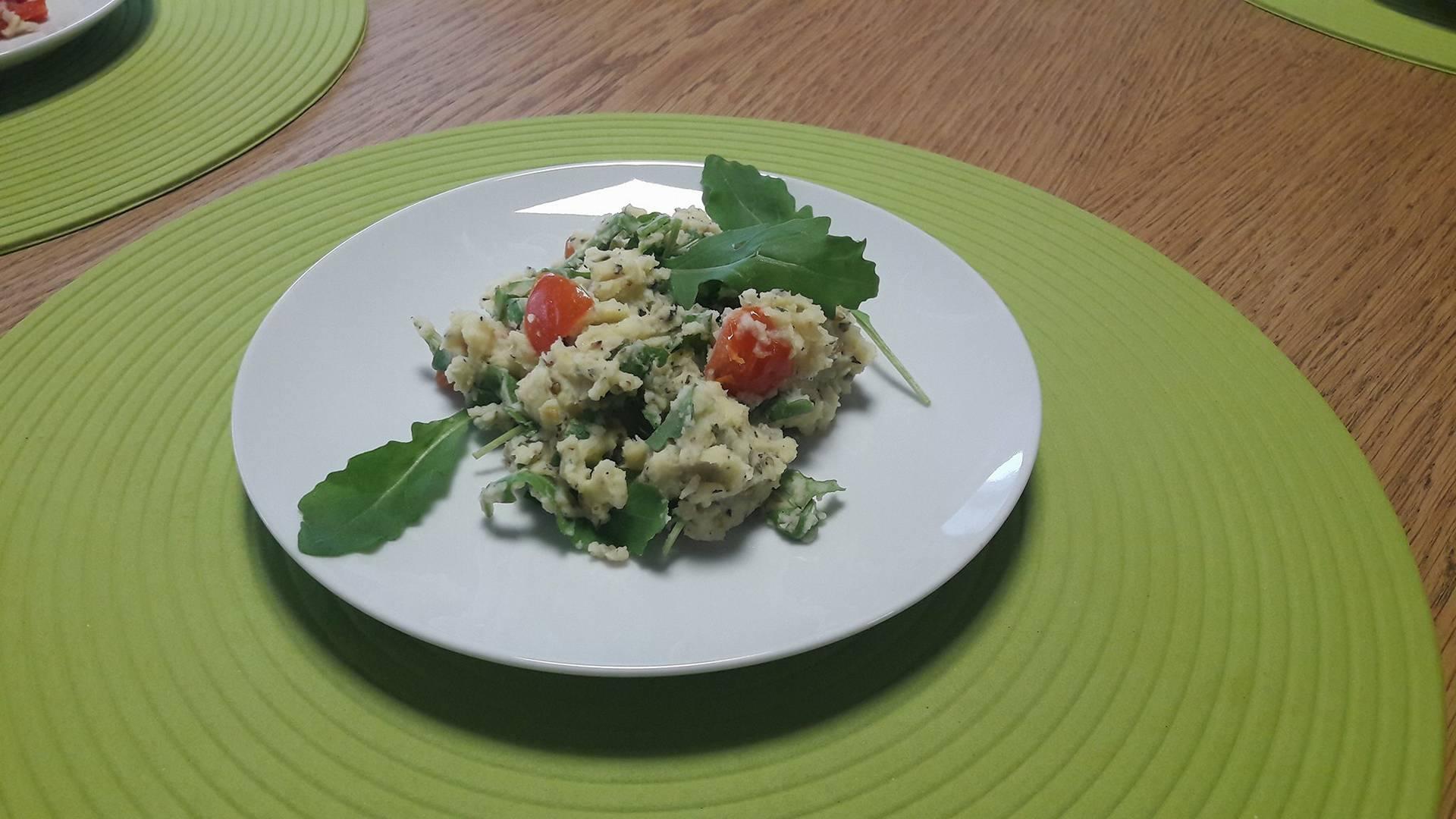 stamppot stoemp mozzerella tomaat