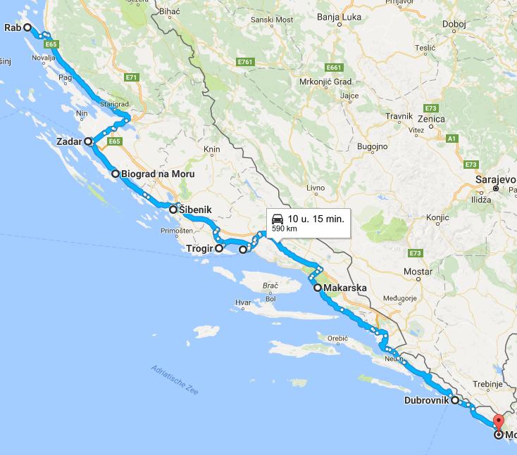 kaart dalmatië