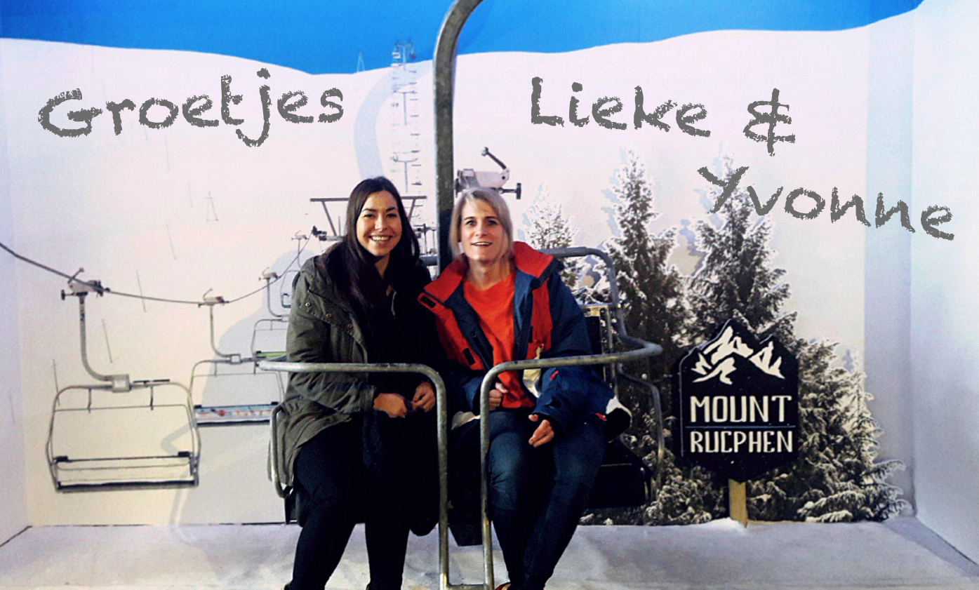 lieke en yvonne skien
