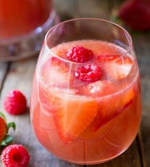 Rosé sangria cocktail